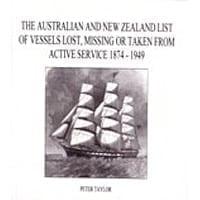 Aust & NZ List of Vessels Lost, Missing