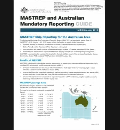 MASTREP and Australian Mandatory Reporting Guide 2016