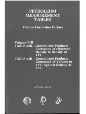 Petroleum Tables Vol 8