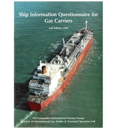 Ship Information Questionnaire For Gas Carriers