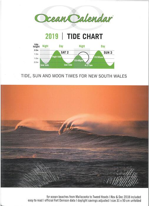 Buy A Ocean Calendar 2019 Tide Chart New South Wales Online In