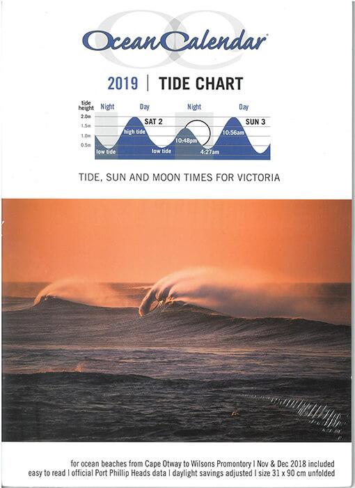 Buy A Ocean Calendar 2019 Tide Chart Victoria Online In Australia